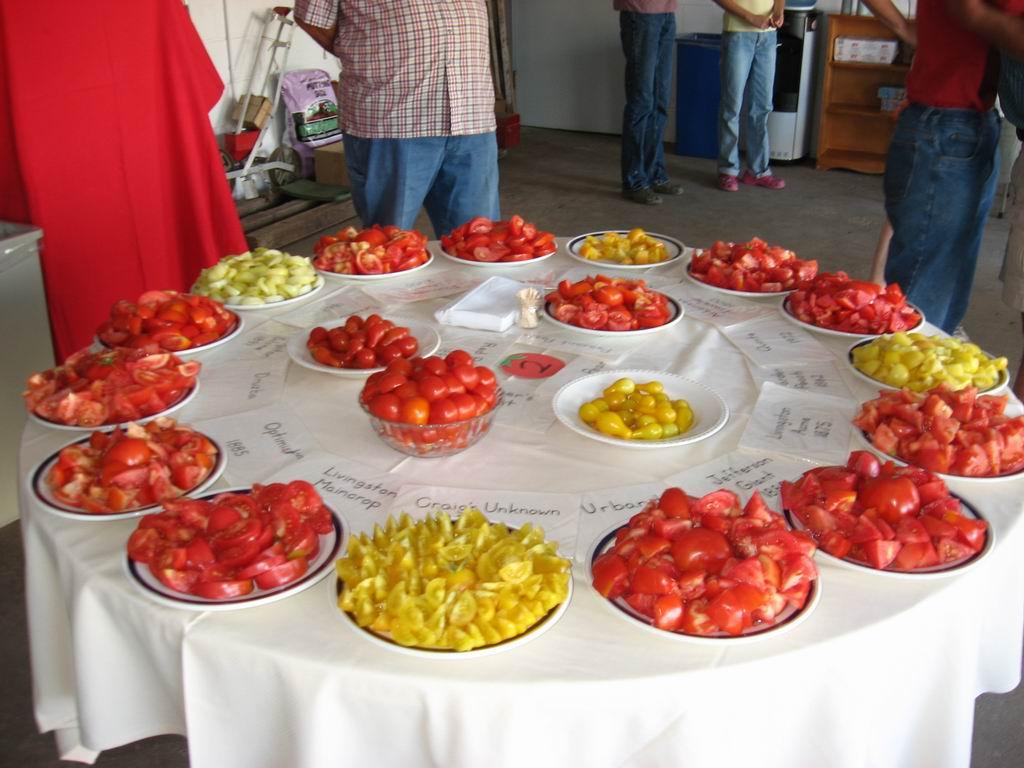 Heritage Tomato tasting
