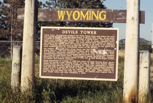 Descriptive Plaque of Devils Tower