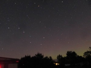 Aurora 21:52edt, 61sec exposure NW, last shot of evening