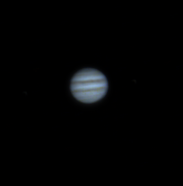 Jupiter F10 FL=1000mm 5msec exposures 60 seconds