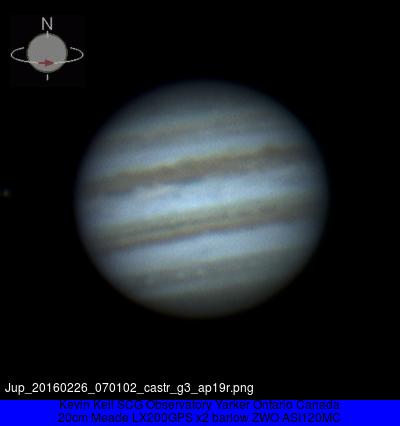 Jupiter 2016 Feb 26 07:01UT