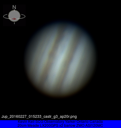 Jupiter in the evening