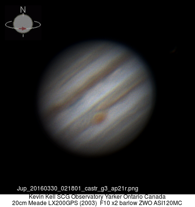 Jupiter 20160330 02:18 UT average